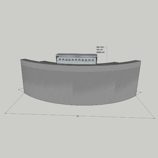 EOK Modular Curved Outdoor Kitchen with  Back Splash image number 1