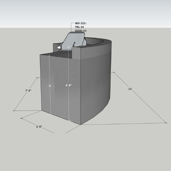 EOK Modular Curved Outdoor Kitchen with  Back Splash image number 2