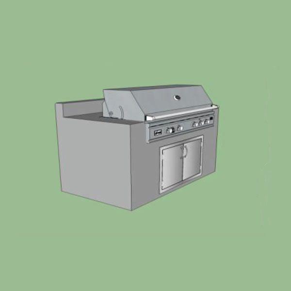 EOK Modular Straight Outdoor Kitchen with Back Splash image number 0