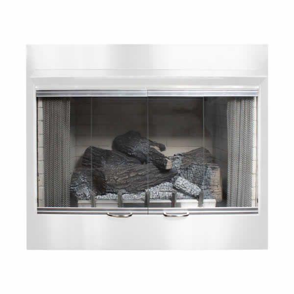 "Empire Carol Rose 36"" Bi-Fold Fireplace GlassDoor w/SS Frame image number 0"