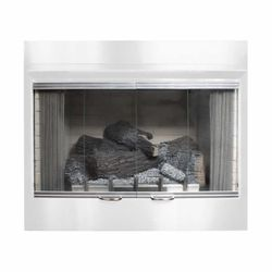 "Empire Carol Rose 36"" Bi-Fold Fireplace GlassDoor w/SS Frame"