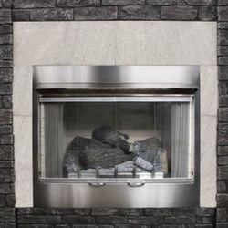 "Empire Carol Rose 42"" Bi-Fold Fireplace GlassDoor w/SS Frame"