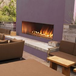 Empire Carol Rose Linear Fireplace - 60""