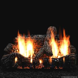 Empire Charred Oak Ventless Gas Log Set