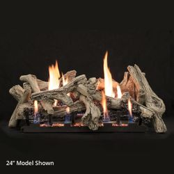 Empire Driftwood Burncrete Ventless Gas Log Set