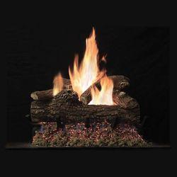 Empire Great Lakes Oak See-Through Vented Gas Log Set