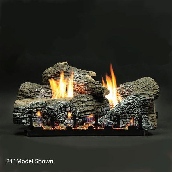 Empire Stacked Wildwood Ventless Refractory Ceramic Gas Log Set image number 0