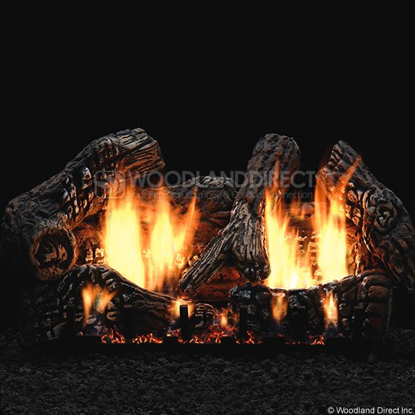 Empire Super Charred Oak Ventless Gas Log Set image number 0