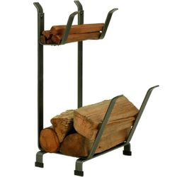 Country Home Indoor Firewood Rack with Kindling Rack