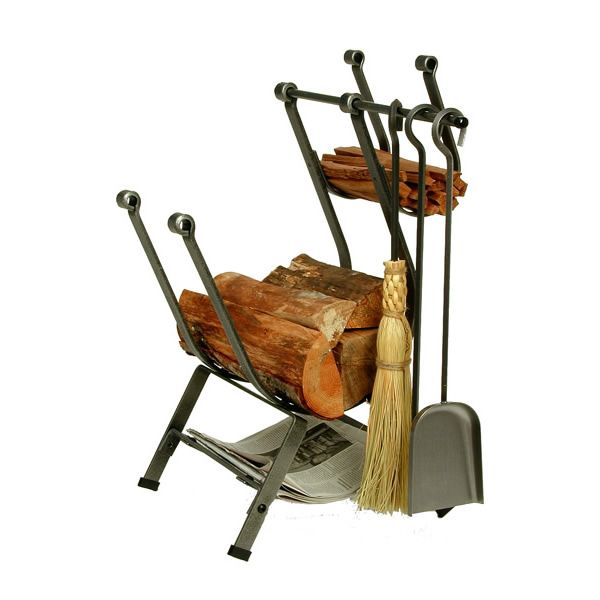 Enclume Front Loading Indoor Firewood Rack with Tools image number 0