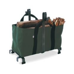 Indoor Firewood Rack with Carrier Bag