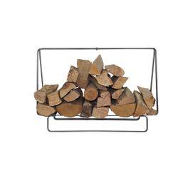 "Enclume Rectangular Firewood Rack 31.75"" - Silver Hammered"