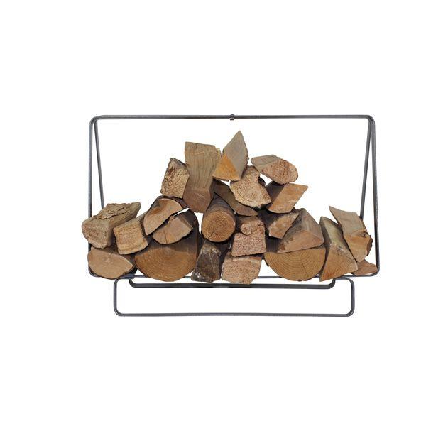 """Enclume Rectangular Firewood Rack 31.75"""" - Silver Hammered image number 0"""