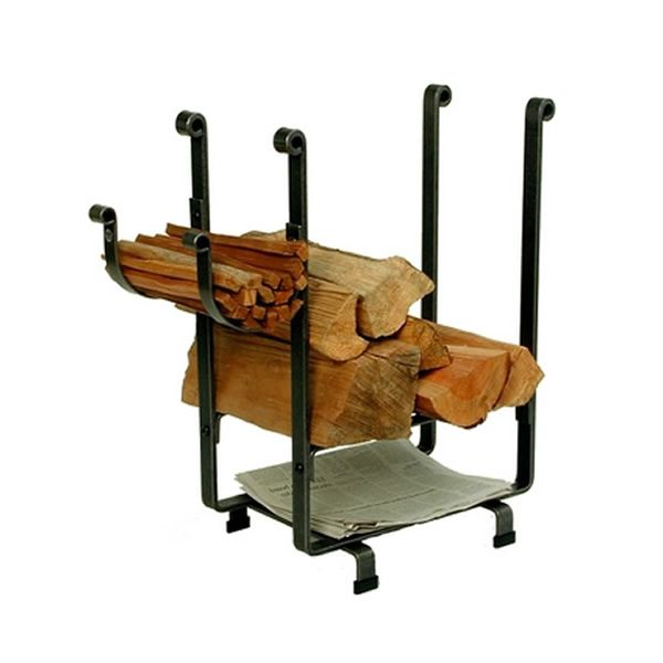 Enclume Rectangular Indoor Firewood Rack with Newspaper Rack image number 0