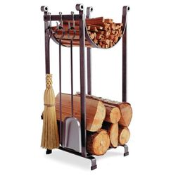 Sling Indoor Firewood Rack with Tools