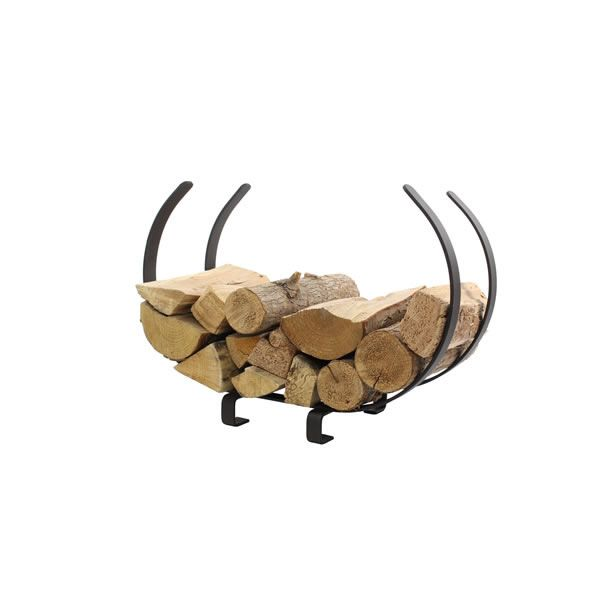 "Enclume U-Shaped Firewood Rack 28"" -  Textured Bronze image number 1"