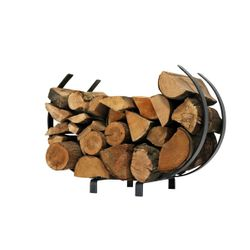 "Enclume U-Shaped Firewood Rack 28"" -  Textured Bronze"