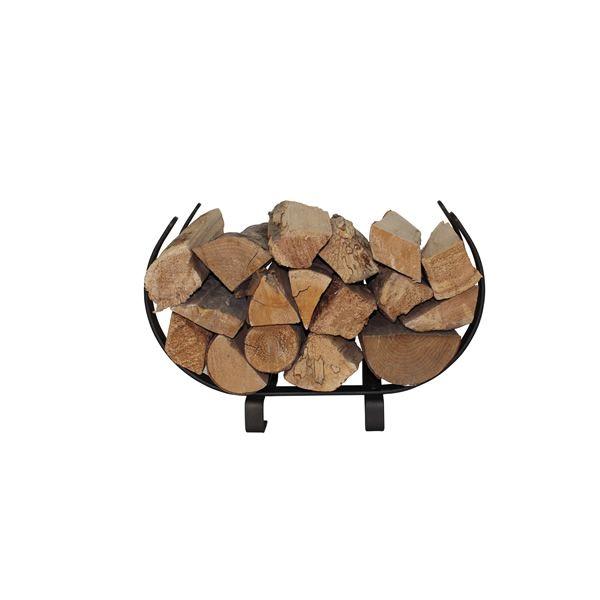 "Enclume U-Shaped Firewood Rack 22"" - Textured Bronze image number 0"