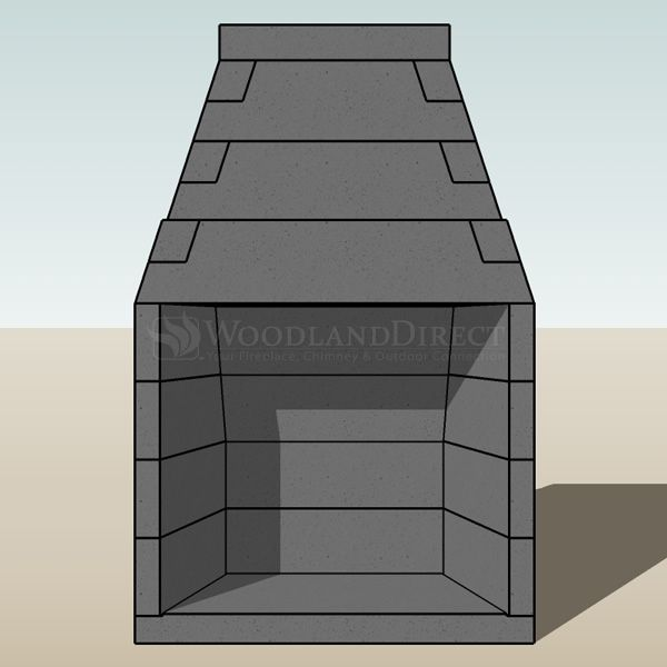 "Engineered B-Vent Masonry Fireplace System - 36"" image number 4"