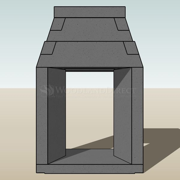 "Engineered See Through Masonry Fireplace System - 30"" image number 2"