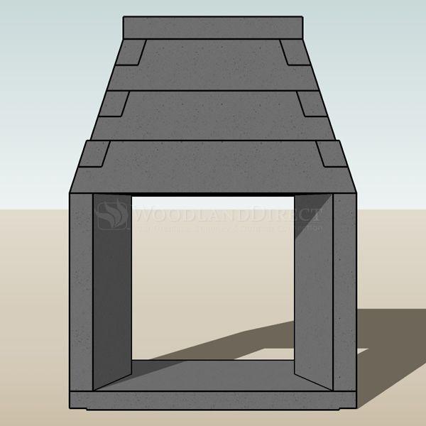 "Engineered See Through Masonry Fireplace System - 42"" image number 2"