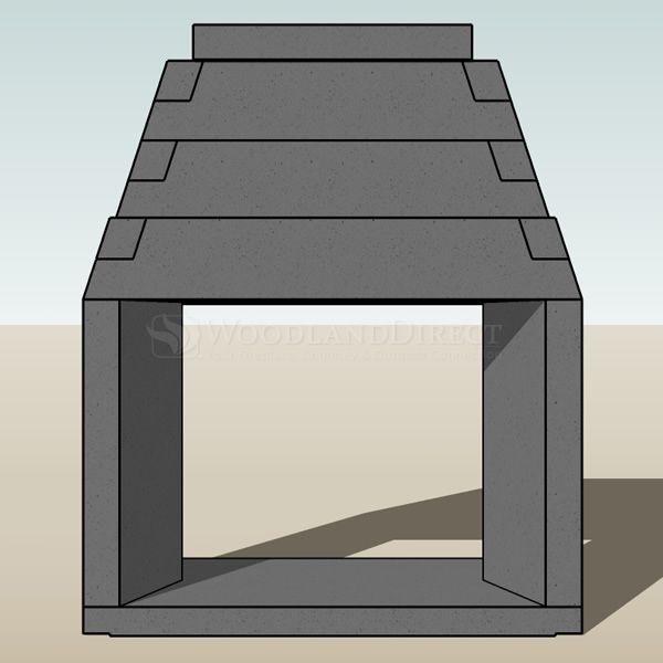 "Engineered See Through Masonry Fireplace System - 48"" image number 2"