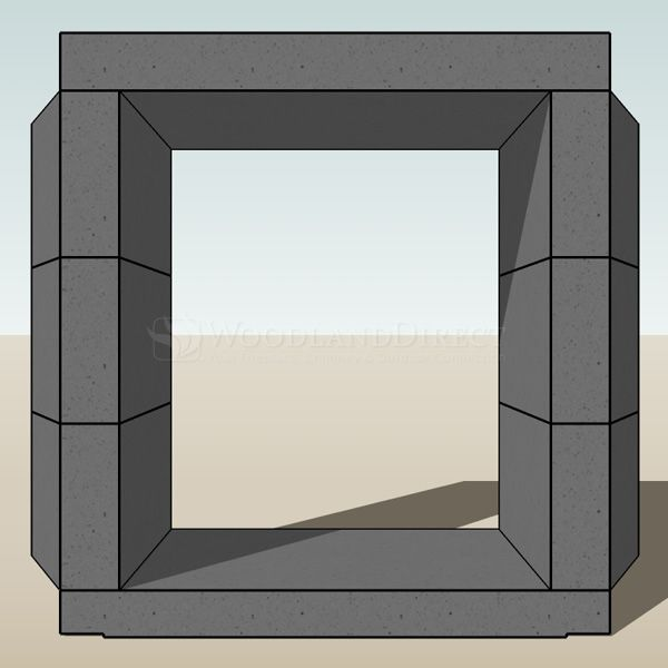 """Engineered Ventless See Through Masonry Fireplace System - 30"""" image number 3"""