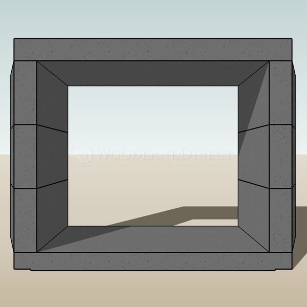 """Engineered Ventless See Through Masonry Fireplace System - 42"""" image number 3"""