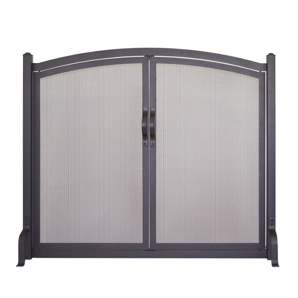 Early American Arched Fireplace Screen with Doors image number 0
