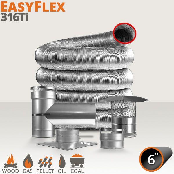 """EasyFlex 316Ti Chimney Liner Kit - 6"""" image number 0"""