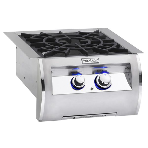 Echelon Diamond Built-In Power Burner - Porcelain Grid image number 0