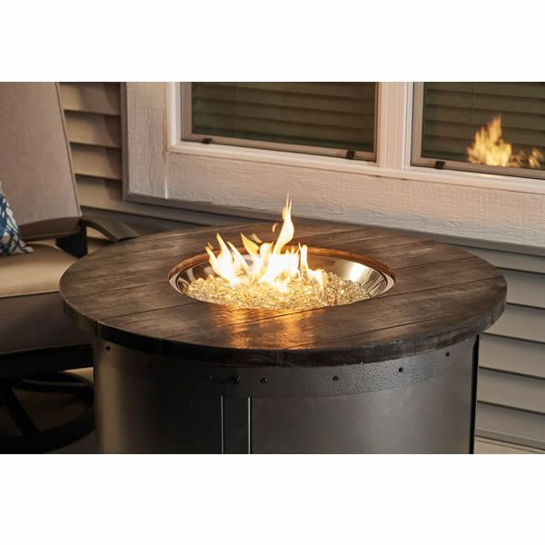 Edison Round Gas Fire Pit Table image number 3