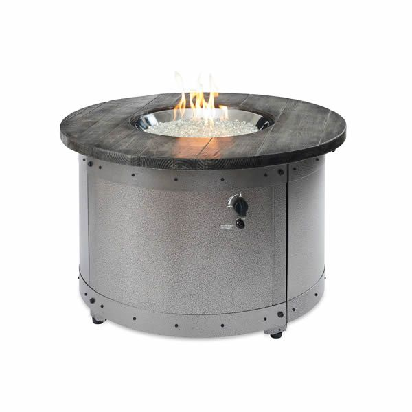 Edison Round Gas Fire Pit Table image number 5