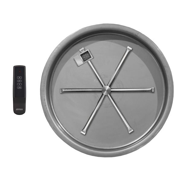 """Electronic Round Gas Fire Pit Burner System - 19"""" image number 0"""