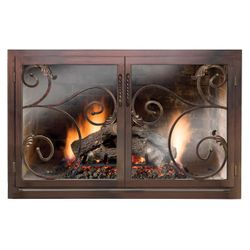 Elektra Fireplace Door