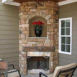 Elite Outdoor Custom Corner Fireplace