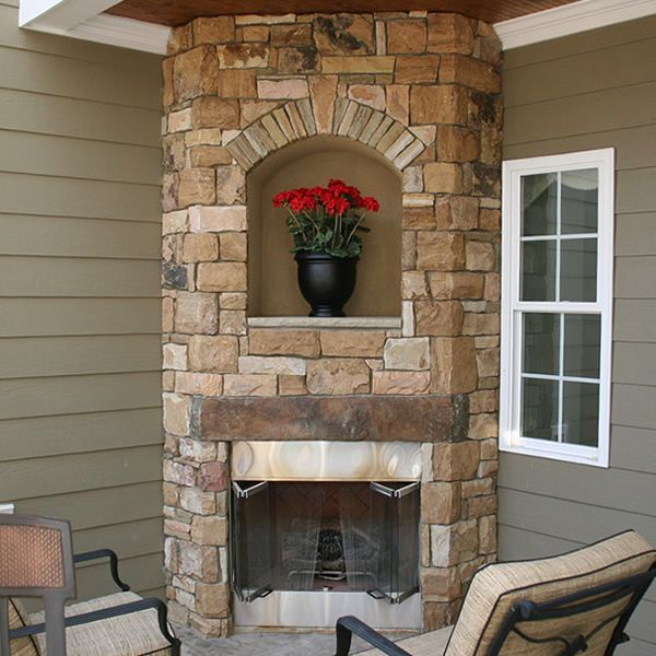 Elite Outdoor Custom Corner Fireplace image number 0