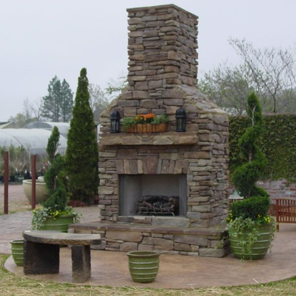 Elite Outdoor Custom Tall Classique Fireplace image number 0