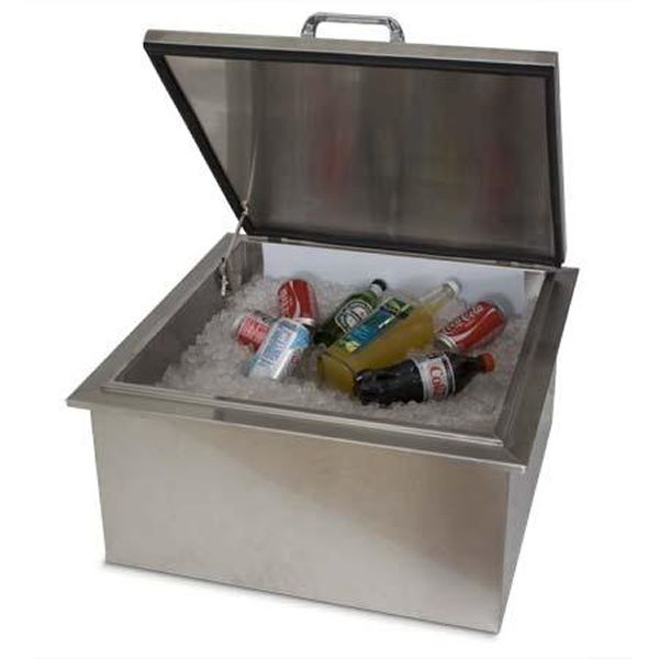 "Elite Outdoor Ice Storage with Condiment Tray - 19"" x 27"" image number 1"