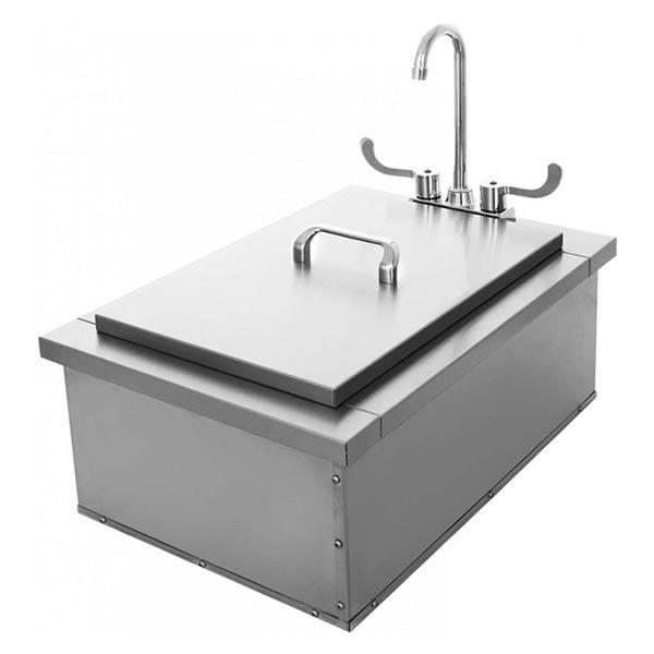 "Elite Outdoor Ice Storage with Sink - 15"" x 24"" image number 0"