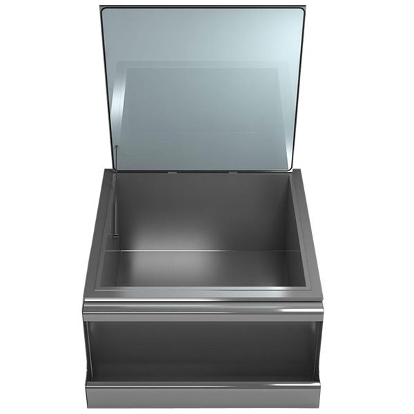 Elite Outdoor Slide-In Ice Storage with Condiment Tray image number 0