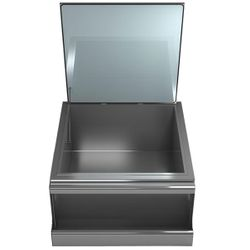 Elite Outdoor Slide-In Ice Storage with Condiment Tray