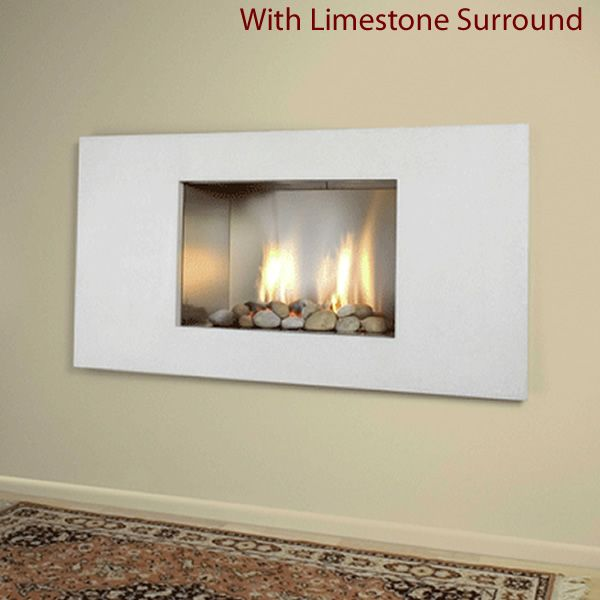 European Home Mirage Vent Free Gas Fireplace image number 2