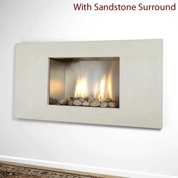 European Home Mirage Vent Free Gas Fireplace image number 3