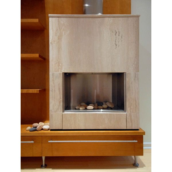 European Home Mirage Vent Free Gas Fireplace image number 5