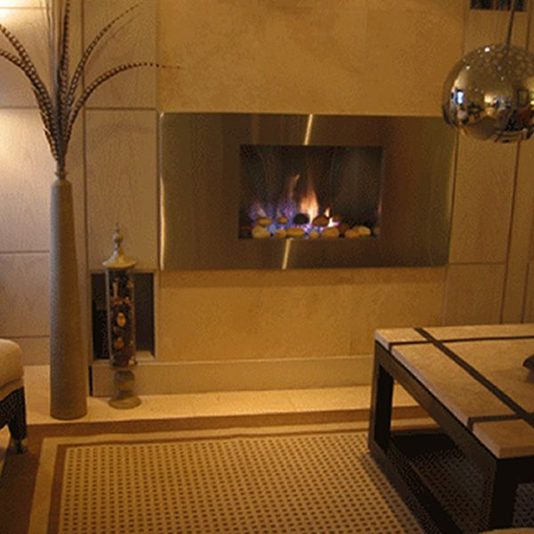 European Home Mirage Vent Free Gas Fireplace image number 7