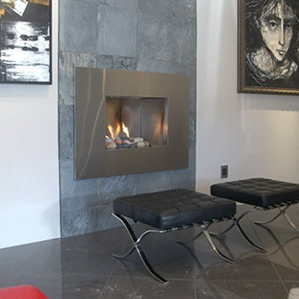 European Home Mirage Vent Free Gas Fireplace image number 8