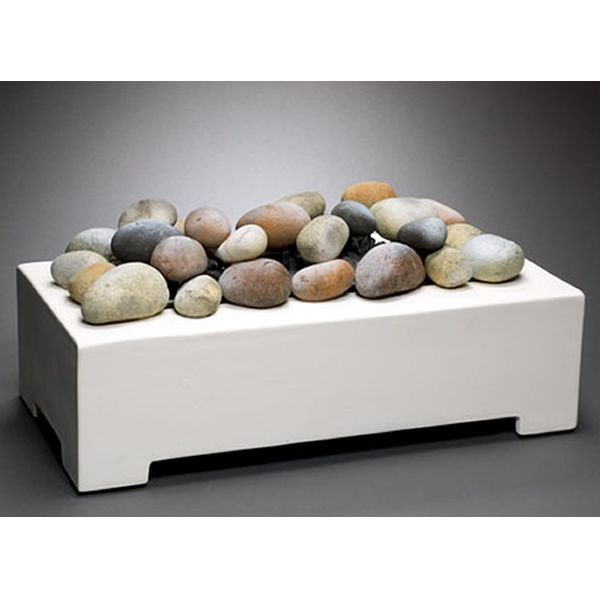 European Home Ventless White Fire Rock Set image number 1