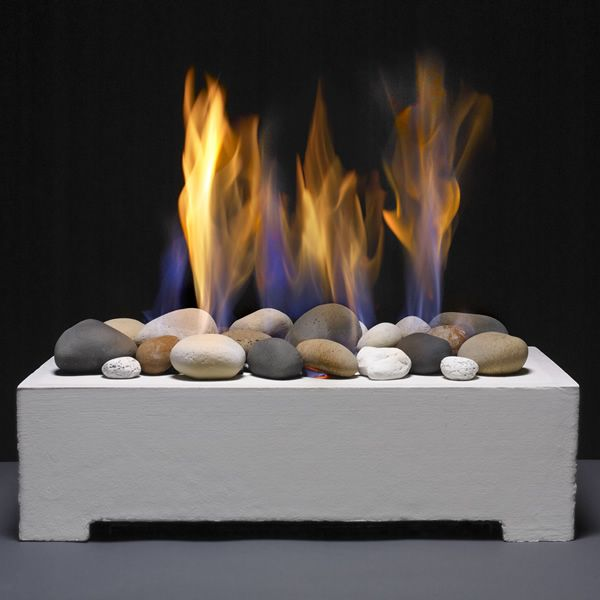 European Home Ventless White Fire Rock Set image number 3