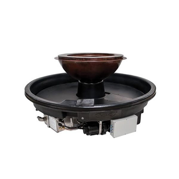 Evolution 360 Hammered Copper Gas Fire Bowl System image number 0